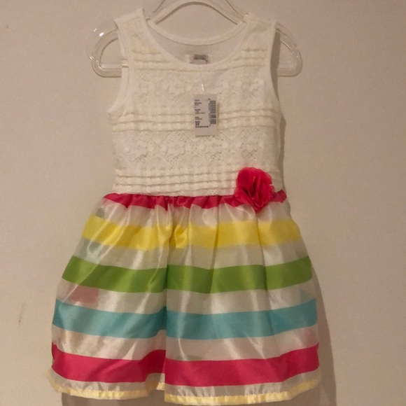 The Children's Place Dress with Striped Skirt